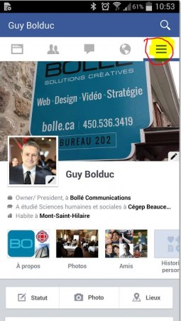 Profil Guy Bolduc