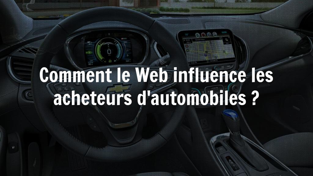 Comment le web influence les acheteurs d'automobiles?
