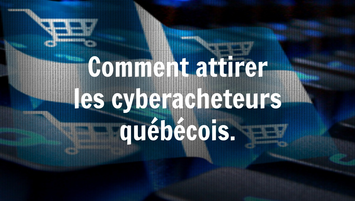 Comment attirer les cyberacheteurs québécois.